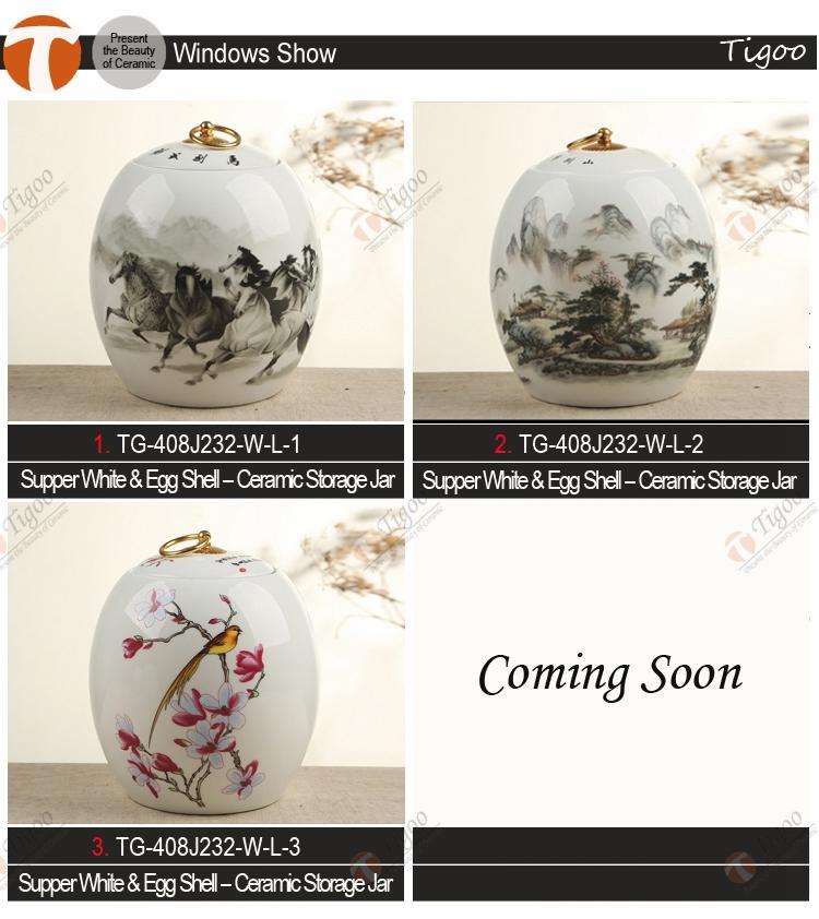 Chinese Ceramci Tonen Stukken Voor Huisdecoratie Hoge Kwaliteit Thee Cadeau Set Opslag Pot Thee Canister Home Decoratie Artikelen Buy Home