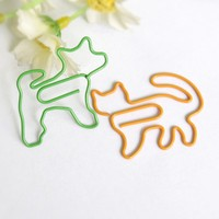 dog shape paper clip the bookmark animals