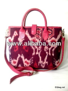 Batik Leather bag