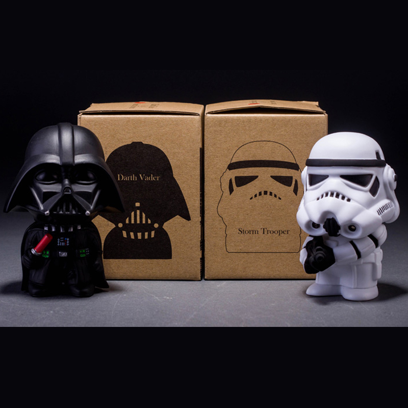10cm Q Style Star Wars Black Knight Darth Vader & STORM TROOPER Stormtrooper Juguetes Action Figure Model Kids Toy Gifts