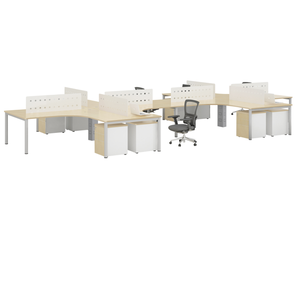 four twelve people modular office workstation