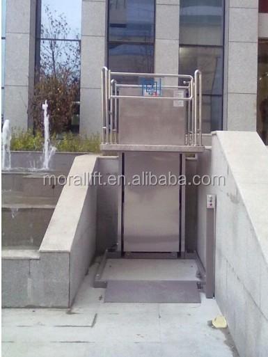 Silla de ruedas ascensor plataforma hidraulica vertical for Plataforma para silla de ruedas