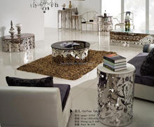 Stainless Steel Glass Coffee Table Modern Design