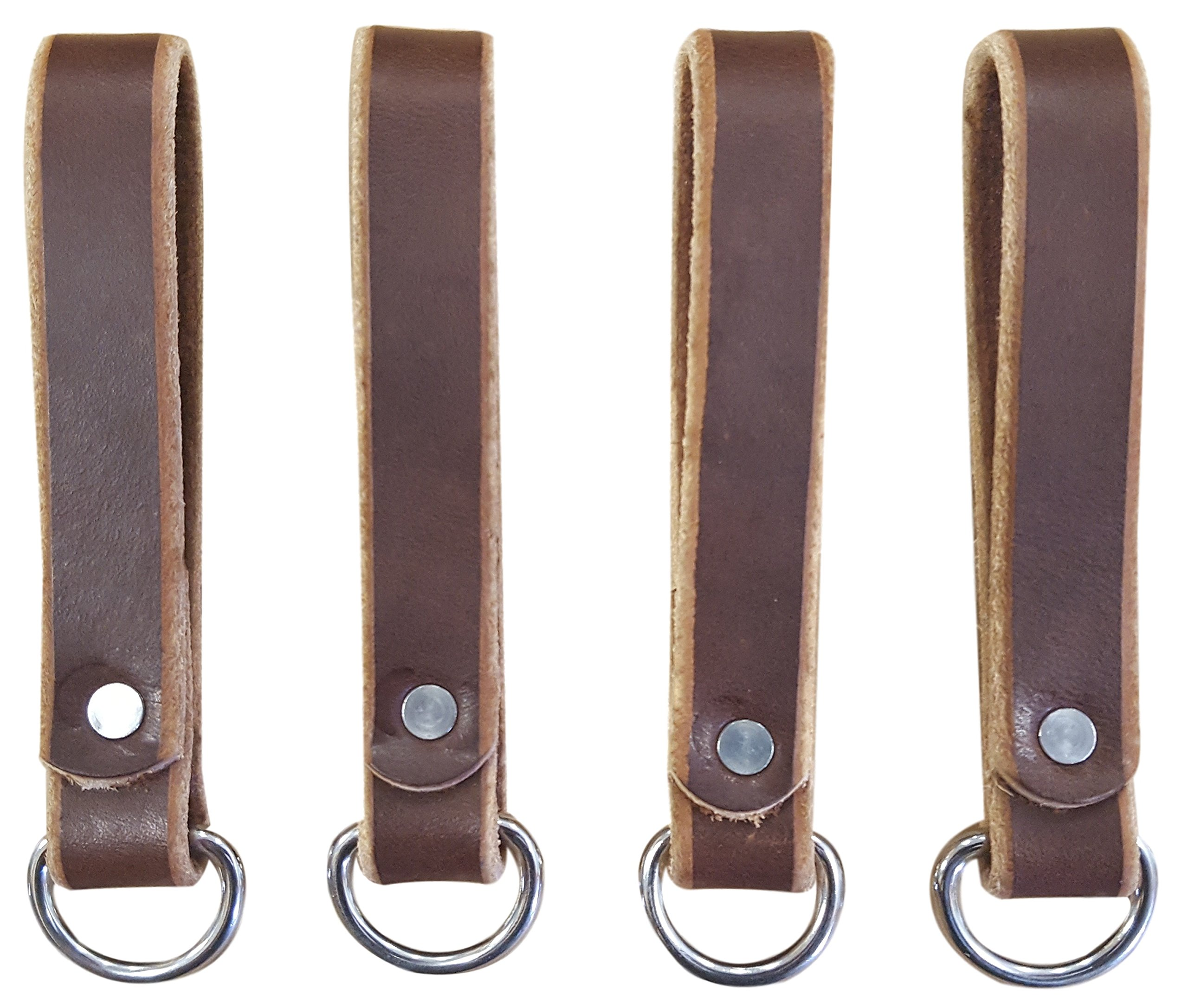 Heavy Duty Leather Tool Belt Accessories (Suspender Loop Attachment 4-Pack)