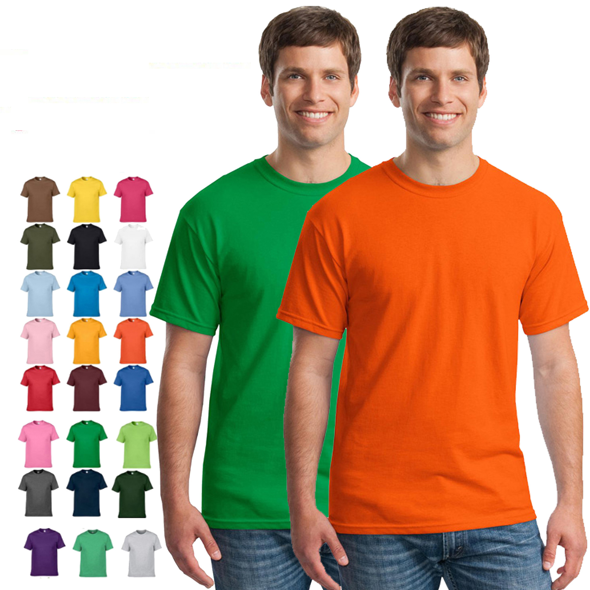 2019 Wholesale Cotton Custom oem Men's t shirt blank Plain t shirts