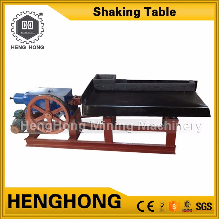 High efficient gold and silver refining equipment shaking table for small particle size