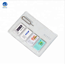 Popular regular Card Holder,micro and nano sim card holder with metal pin