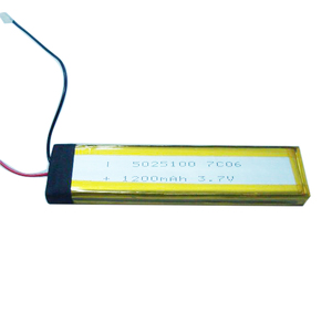 High temperature Flat and long GEB5025100 3.7V 1200 mAh li-polymer battery