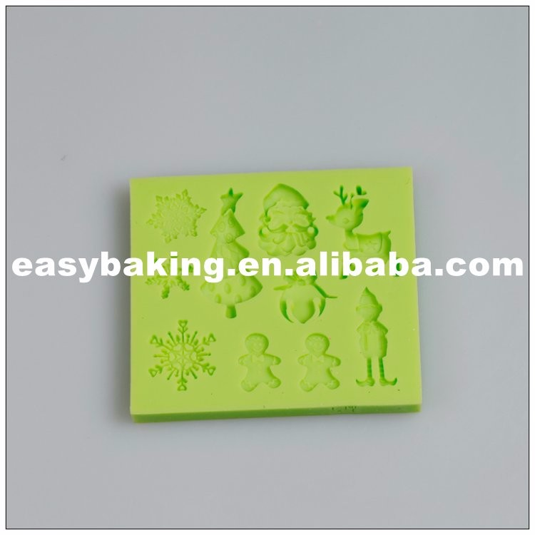 Christmas Series Fondant Silicone Molds for cake decorating