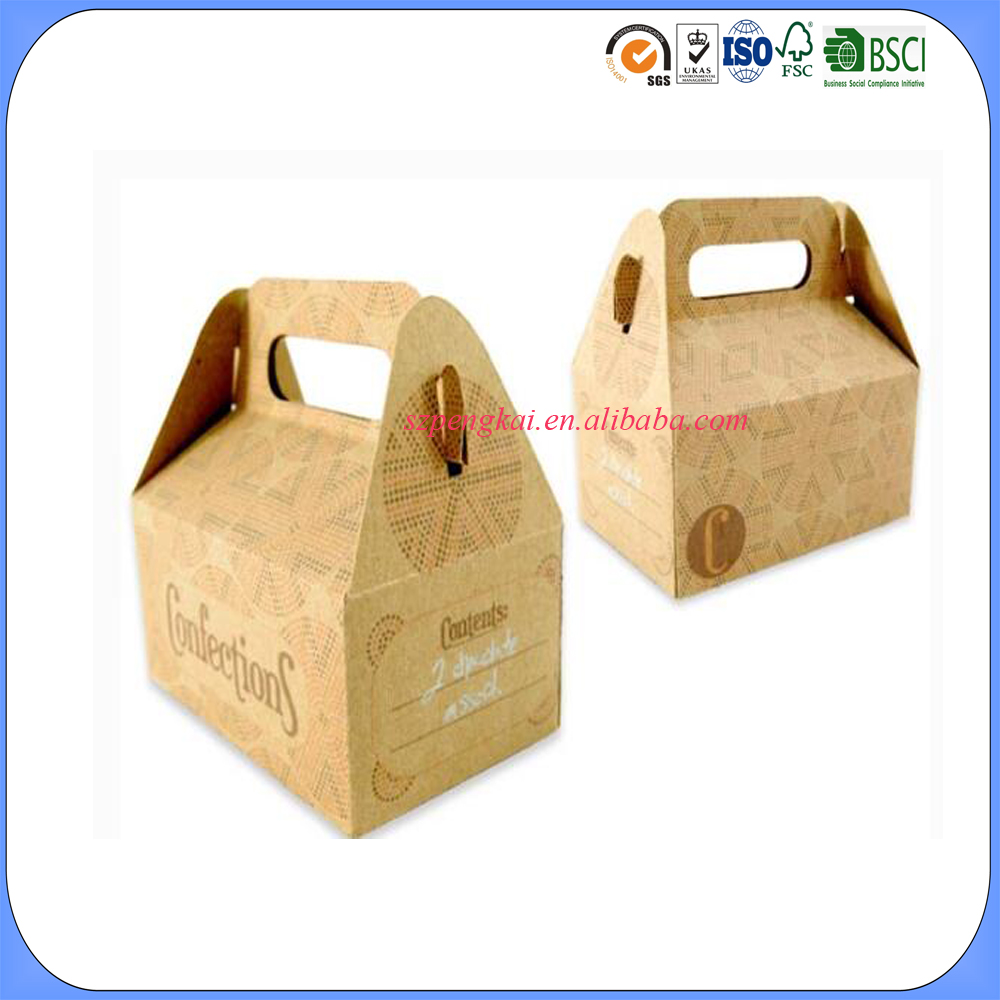 wholesale retail custom cheap paper food packing box without glue