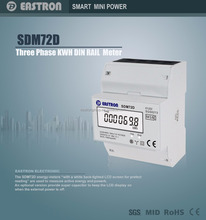 SDM72D Good Price New 3 Phase DIN Rail kWh Meter, Electric kWh Meter, 10~100A, MID Approved