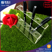 Double acrylic pen stand for shop display promotion
