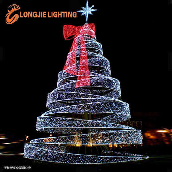 Outdoor Christmas Tree With Lights.3d Outdoor Giant Metal Spiral Lighted Led Christmas Tree With Star On Top Buy Spiral Lighted Christmas Tree Metal Spiral Christmas Tree 3d Outdoor