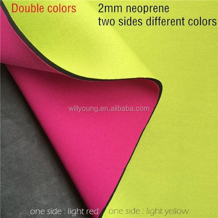 Néoprène au mètre en néoprène tissu CA 1,5 mm 1,7-2mm Tissu Fabric Neoprene