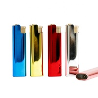 New style refillable electronic windproof lighter 2018 metal slim windproof lighter pop in china EX-2030 metal lighter