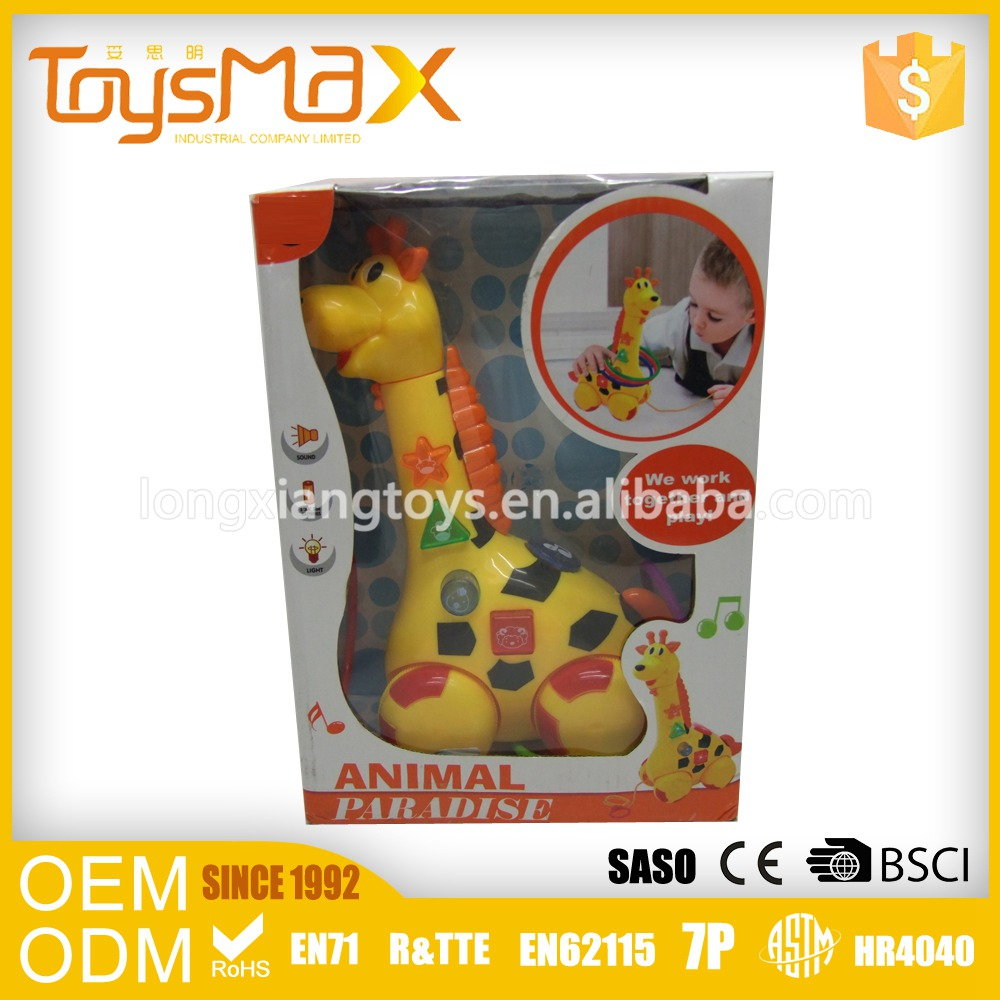 China Manufacturer Kids Educational Toy Plastic Battery Giraffe Toy
