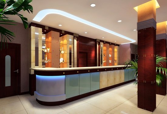 Novel Cosmetic Display CounterShowroom Interior Design In