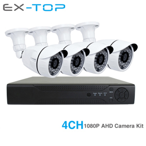 4 2MP Outdoor Security Camera IR Waterproof 4ch 1080P AHD Kit