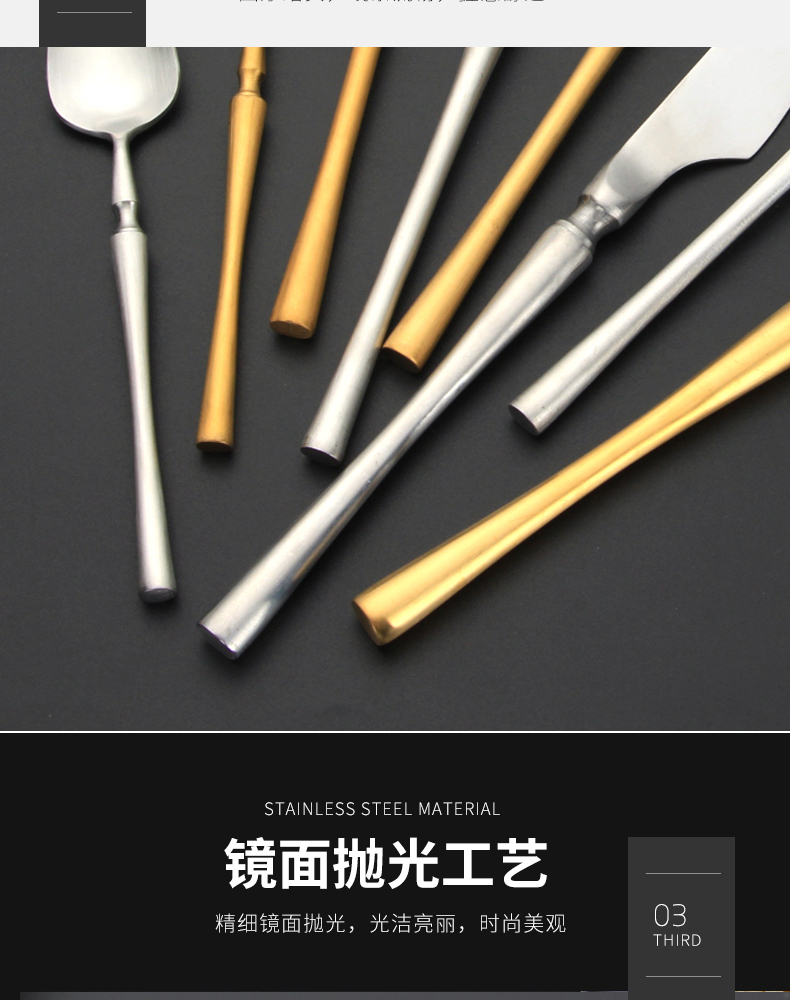 Gold Silverware Set Decorative Vintage Dinnerware Set Cutlery Set Includes Fork Spoons Knife