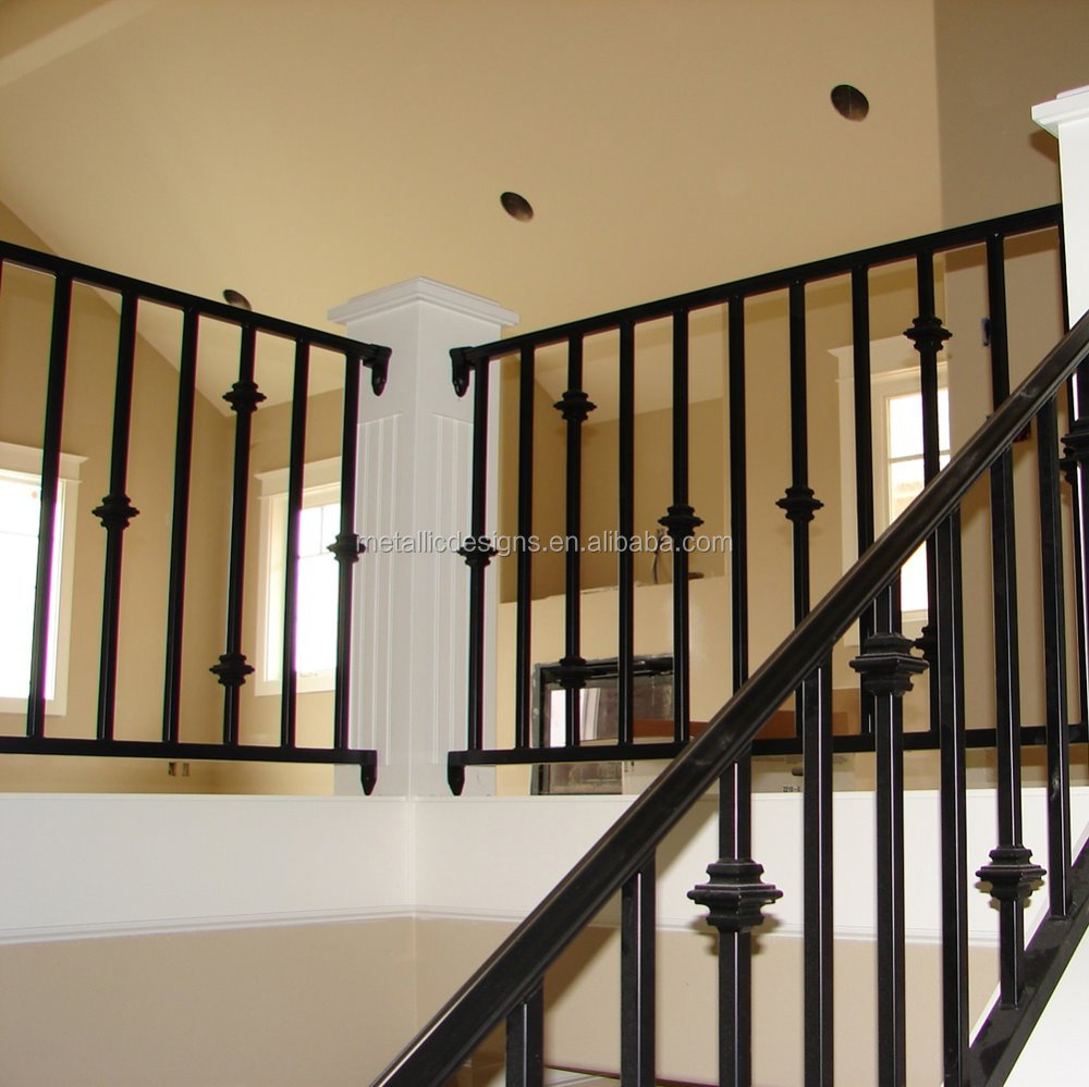 Indoor Ornamental Used Wrought Iron Stair Railings For