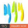 WS-CKN15 Non-Stick Knife Set Color-Coded - Includes Bread Knife, carving knives, Paring Knif
