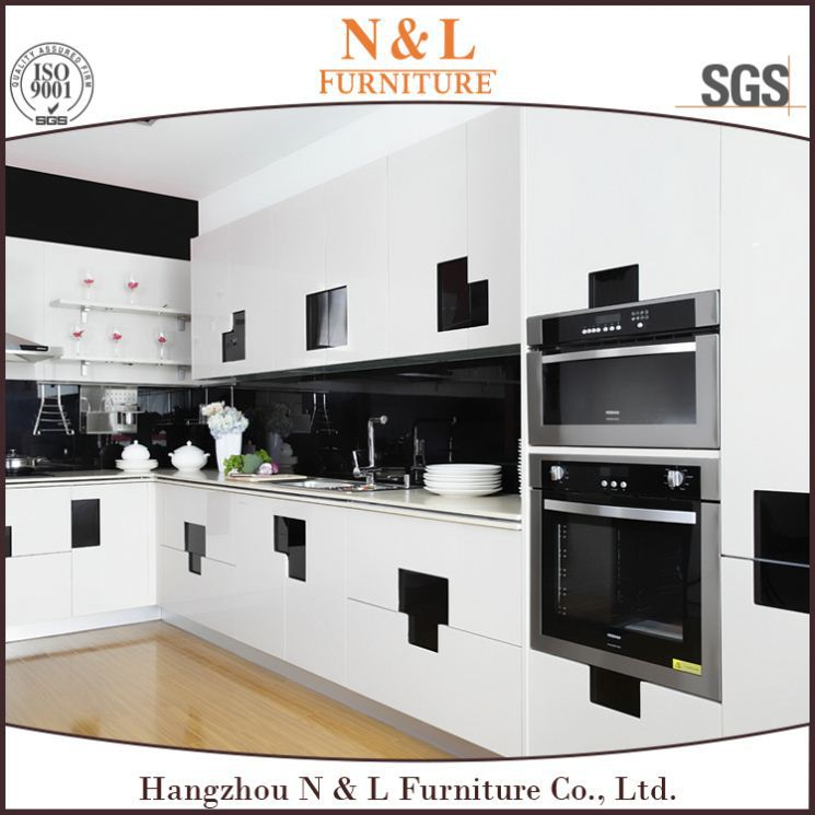 2016 new high glsosy water proof ready made kitchen cabinets 180 degree kitchen cabinet hinges