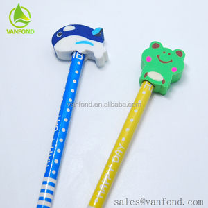 Cute 3D Cartoon Eraser Led Pencil From Korean