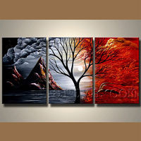 100% Handmade 3 Panel Canvas Wall Art