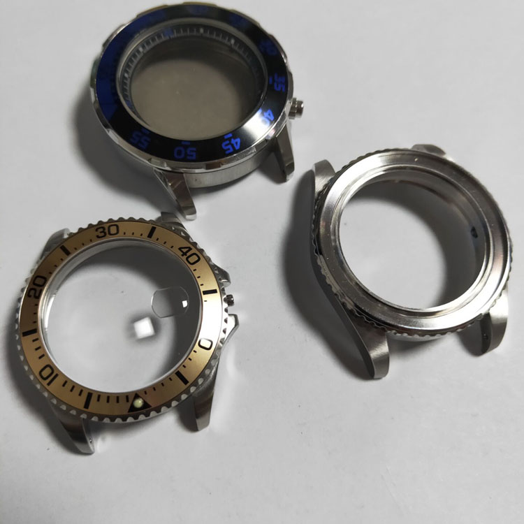 316L Stainless Steel CNC Watch Case Parts With Bezel For Automatic Mechanical Watch OEM