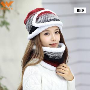 f1be6d81330 Wefans Women Winter Hat Face Mask Scarf Set Lady Warm Beanie Outdoor Snow Knit  Warm Hat