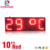 led time and temperature signs 10 inch red color outdoor waterproof display size 950x330x90mm