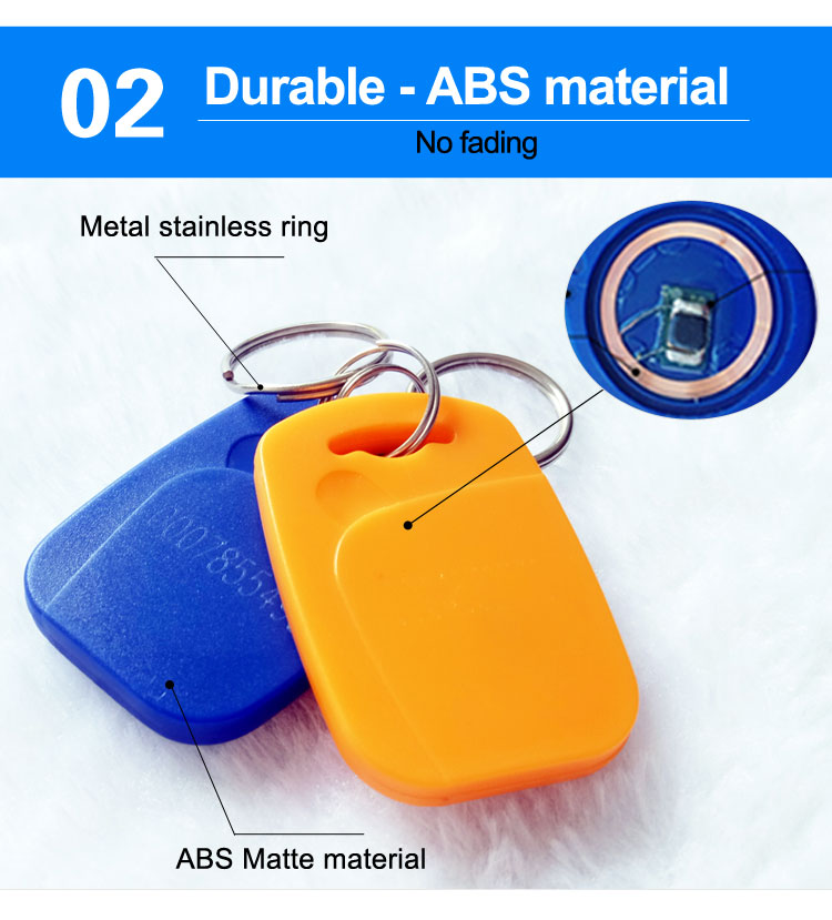 Silk-screen Printing tags Plastic Hotel Rfid Key Fob With Mifa Chips