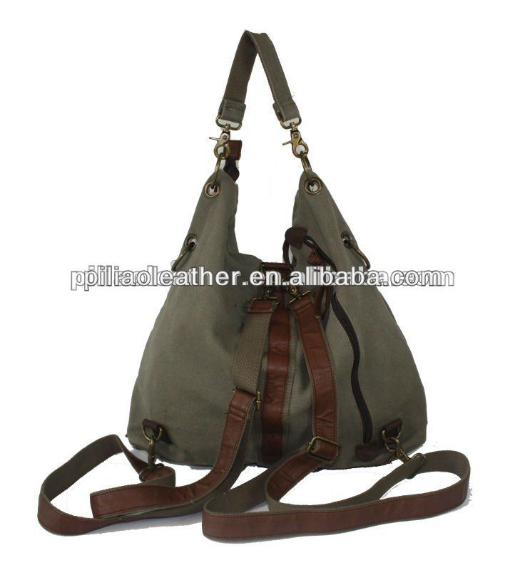 Multi-carryway canvas and P bag for men and women.