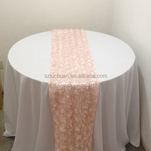 High Quality Rosette Wedding Table Runner for Rectangle Tables