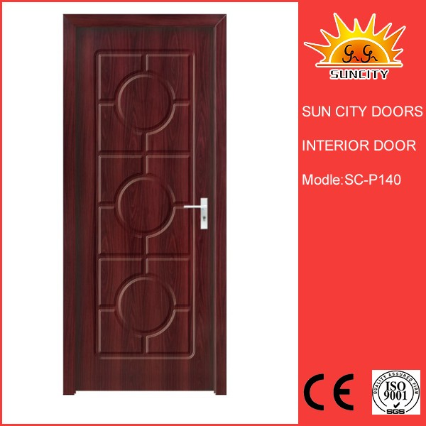 SC P140 6 Panel Interior Doors With Frame German Apartment Door