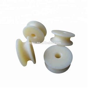 Molded small mc nylon plastic roller / polyamide pulley wheel