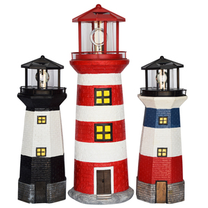 solar lighthouse for garden decoration