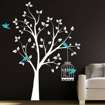 decorative removable 3d owl tree wall stickers - buy tree wall