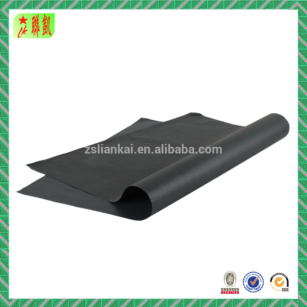 Black wrapping tissue paper packaging paper