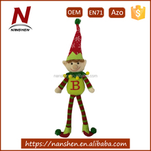 new arrival polyester plush christmas hanging elf toy