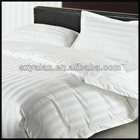 400 thread 100% cotton white oxford duvet cover for hotel