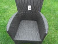 2 X Poly Rattan Garden Chairs ALUMINIUM FRAME Armchair Set + Cushions