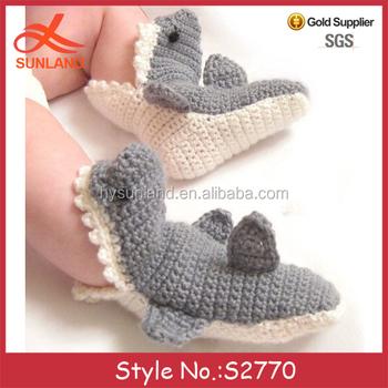 S2770 New Stylish Handmade Crochet Image Knitted Patterns Slippers