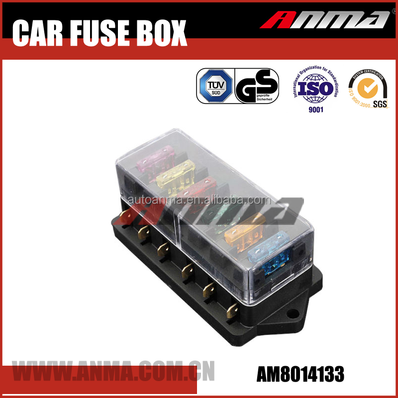 6 WAY FUSE HOLDER BOX CAR VEHICLE CIRCUIT BLADE FUSE BOX BLOCK