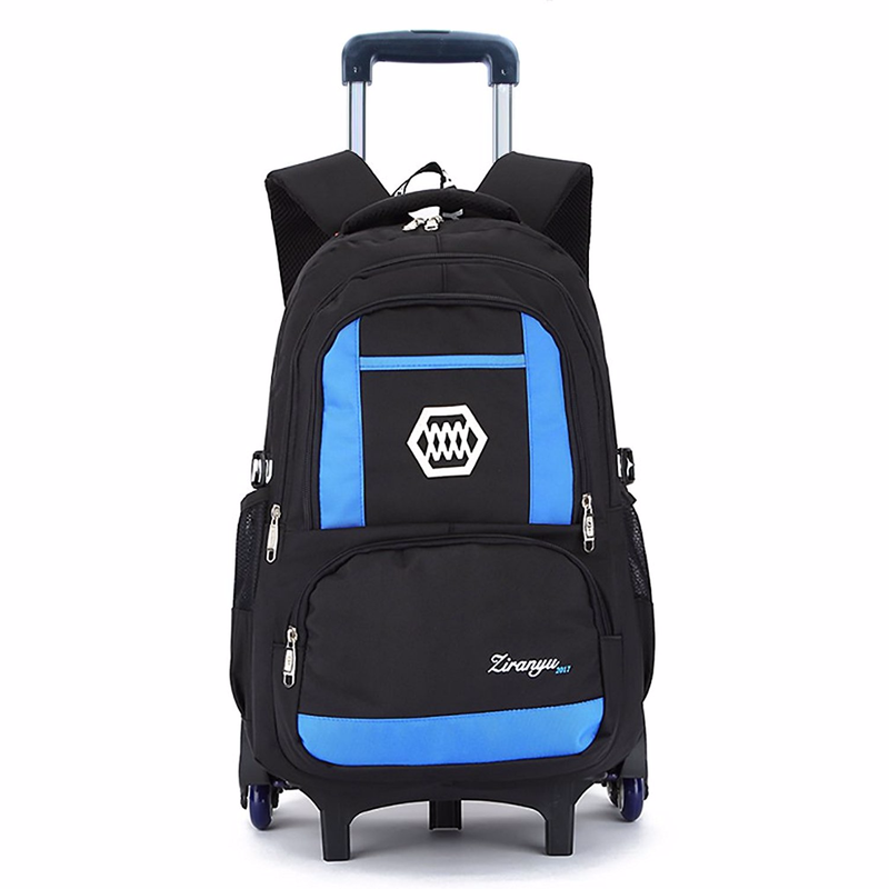 children fancy school bag trolley with allover printing