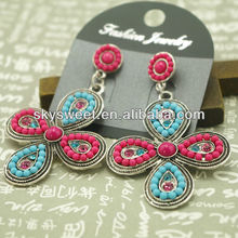 top selling clover beads earring, tribal seed beads earring, japan beads earring