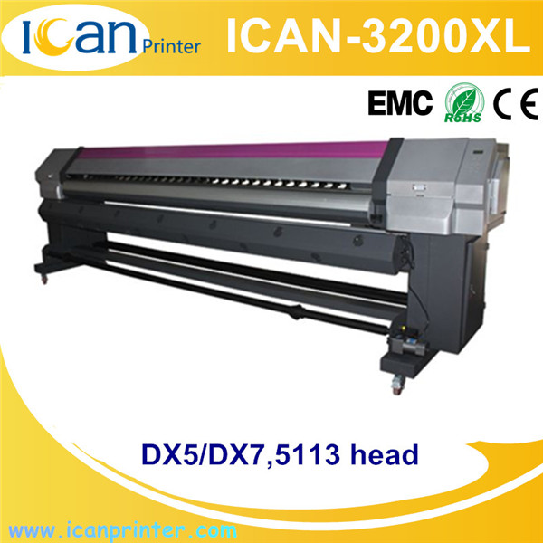 Double dx5 / dx7 printheads cheap price of flex print machine 3.2m print width pana flex printing machine price in china