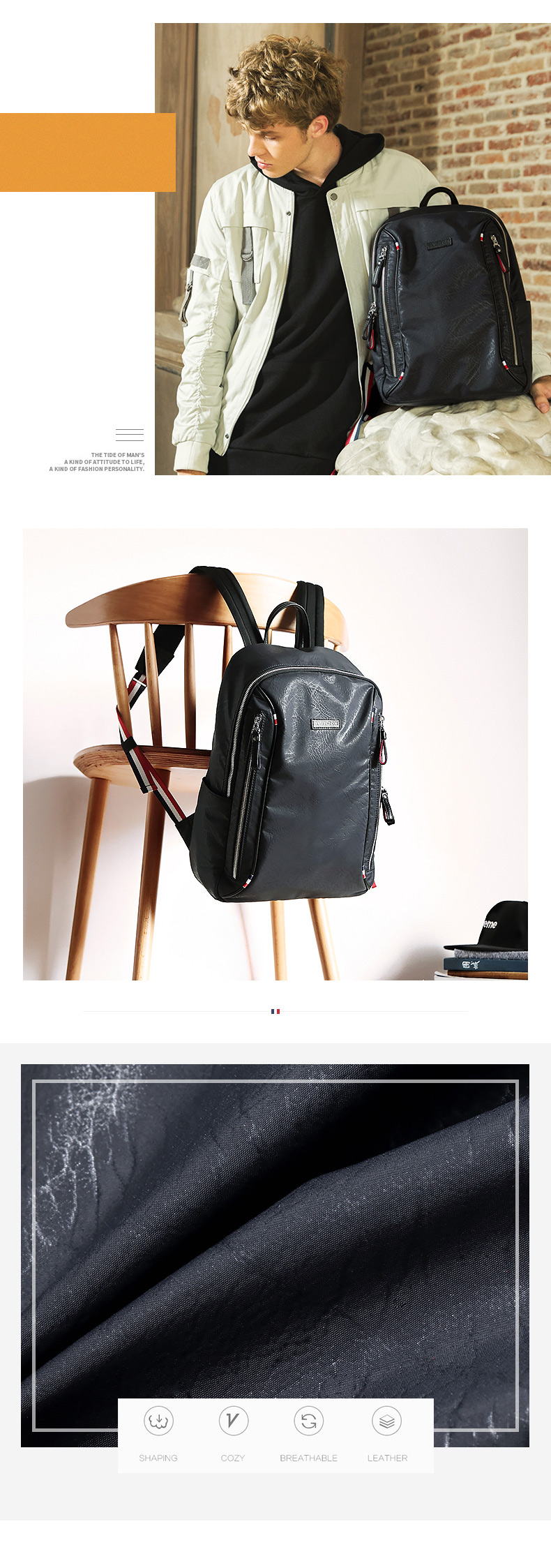 2018 Multi-function Nylon Laptop Bag Backpack School Daypack For Men