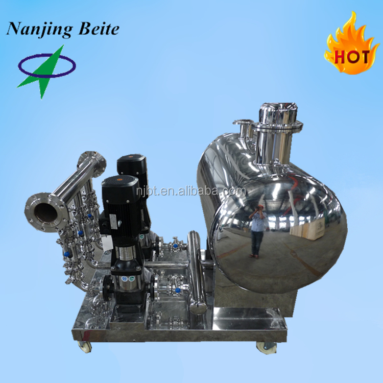 stainless steel no negative pressure equipment with variable frequency pump