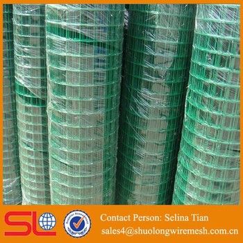 1inch X 2 Inch Green14 Gauge Vinyl Coated Welded Wire Mesh Fence 36 ...